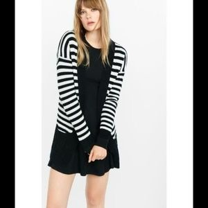 Express Striped Cover Up Cardigan Sweater S